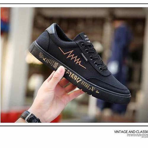 Giày Nam nhịp tim đen Cao Cấp