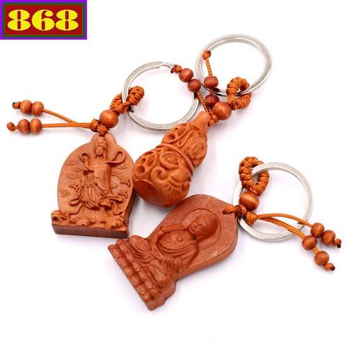 Combo 3 móc khóa Phật Tổ Như Lai - Quan Âm - Hồ Lô - may mắn, bình an