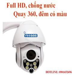 Camera Yoosee không dây ngoài trời quay 360 độ, Full HD, Có màu ban đêm