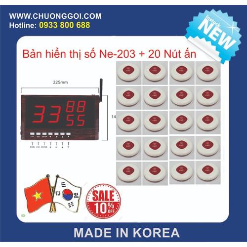 Bộ Thiết Bị Chuông Gọi Phục Vụ Hàn Quốc +  20 nút Bấm Màu Trắng - 4826181 , 17228197 , 15_17228197 , 9500000 , Bo-Thiet-Bi-Chuong-Goi-Phuc-Vu-Han-Quoc-20-nut-Bam-Mau-Trang-15_17228197 , sendo.vn , Bộ Thiết Bị Chuông Gọi Phục Vụ Hàn Quốc +  20 nút Bấm Màu Trắng