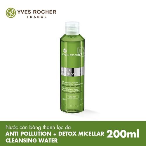 Nước cân bằng thanh lọc da Yves Rocher Anti Pollution + Detox Micellar Cleansing Water 200ML