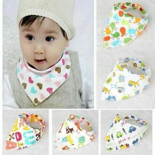 Combo 5 khăn yếm 2 lớp có cúc bấm cho bé - khăn yếm thumbnail