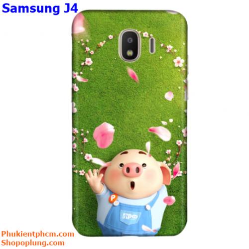 Ốp lưng Samsung J4 in hình Heo đáng yêu M44 - M85