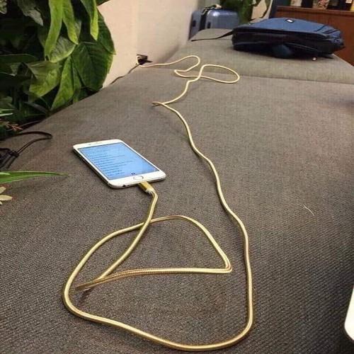 Combo 2 dây sạc điện thoại 2.5 mét