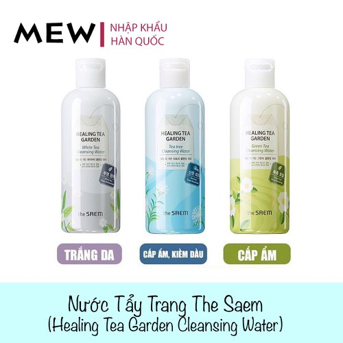 Nước Tẩy Trang The Saem 300ml | Healing Tea Cleansing Water The Saem 300ml | Nhập Khẩu Hàn Quốc