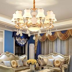 Đèn treo trần - đèn chùm - đèn trang trí pha lê mang phong cách Châu Âu 8 tay 8 bóng cao cấp