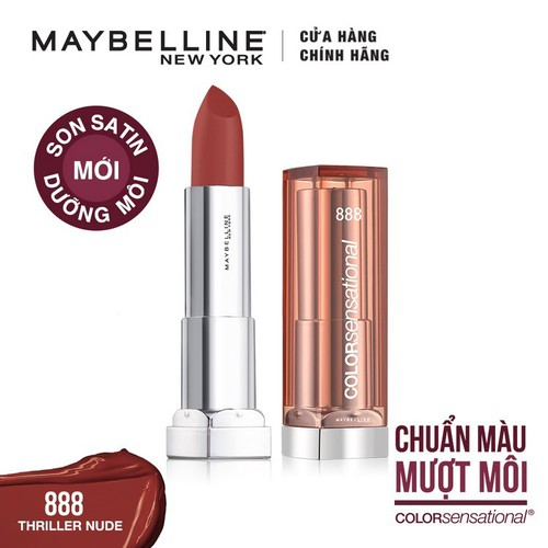 Son satin dưỡng môi Maybelline Color Sensational State Your Color 214 SWEET TALKER WINE - Tặng kèm 1 cây son L