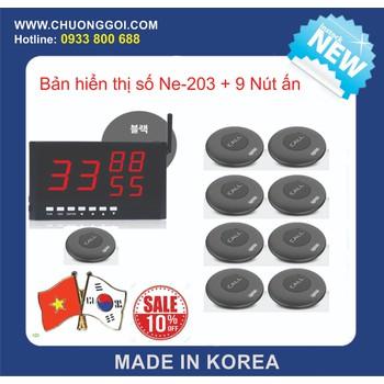 Bộ thiết bị chuông gọi phục vụ Hàn Quốc +  9 Nút Bấm