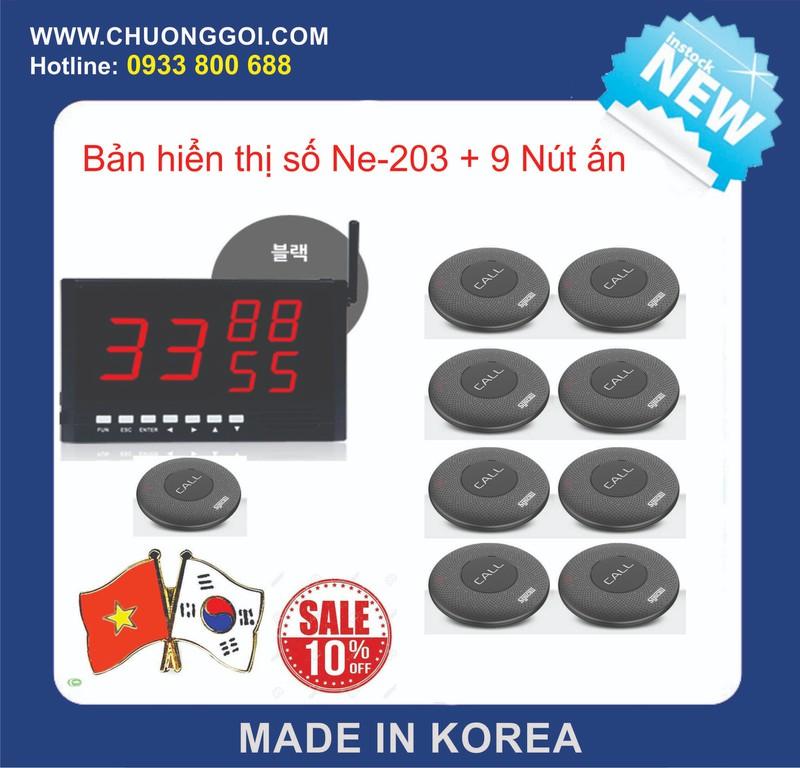 Bộ thiết bị chuông gọi phục vụ Hàn Quốc +  9 Nút Bấm 1