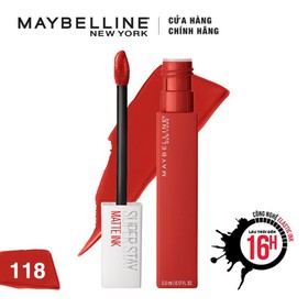 Son Kem Lì 16h Lâu Trôi Maybelline New York Super Stay Matte Ink Lipstick 5ml - 6902395706212