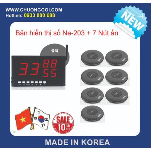 Bộ Thiết Bị Chuông Gọi Phục Vụ Hàn Quốc +  7 Nút bấm - 4650222 , 17223255 , 15_17223255 , 5180000 , Bo-Thiet-Bi-Chuong-Goi-Phuc-Vu-Han-Quoc-7-Nut-bam-15_17223255 , sendo.vn , Bộ Thiết Bị Chuông Gọi Phục Vụ Hàn Quốc +  7 Nút bấm