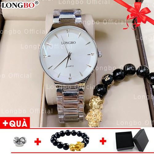Đồng hồ nam sang trọng LONGBO chống nước chống xước giá siêu rẻ LBM115