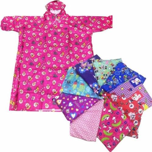 Áo mưa vải dù BIT kín 2 bên trẻ em Size 10 - họa tiết ngẫu nhiên