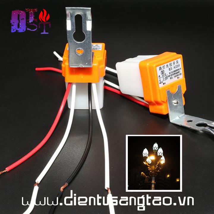 Công tắc cảm biến ánh sáng AS10 220v 10A 4 dây
