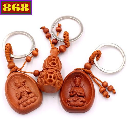 Combo 3 móc khóa Phật Đại Thế Chí - Đại Nhật Như Lai - Hồ Lô - may mắn, bình an