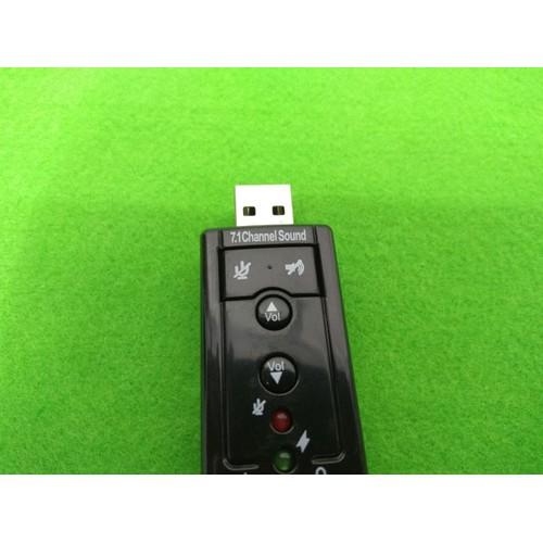 USB cho ra Sound Âm thanh 7.1 cực hay bổ trợ cho tai nghe khi Laptop không có or 1 cổng AUX