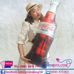 Gối Ôm 3D Hình Chai Coca-Cola Cho Bé