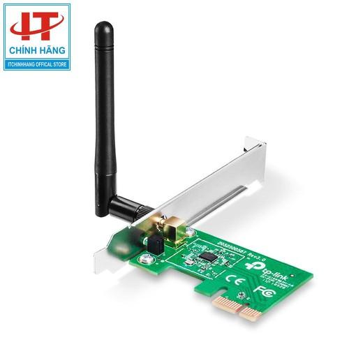Thiết bị thu sóng WIFi không dây PCI Express tốc độ 150Mbps, dùng cho máy tính để bàn, TP-Link TL-WN781ND