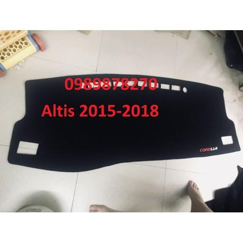 Taplo nỉ xe Toyota Corolla Altis 2015-2018
