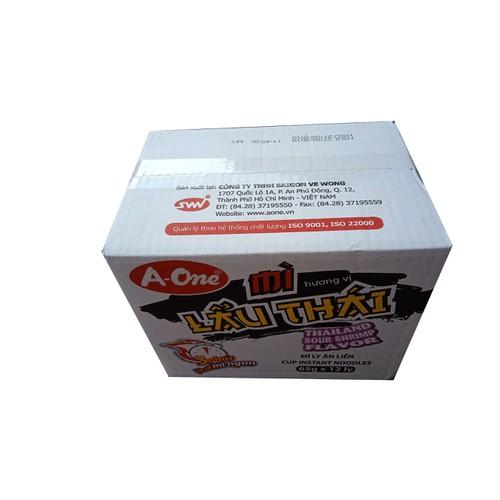 Mì A-One Vị Lẩu Thái 65g x 12 ly