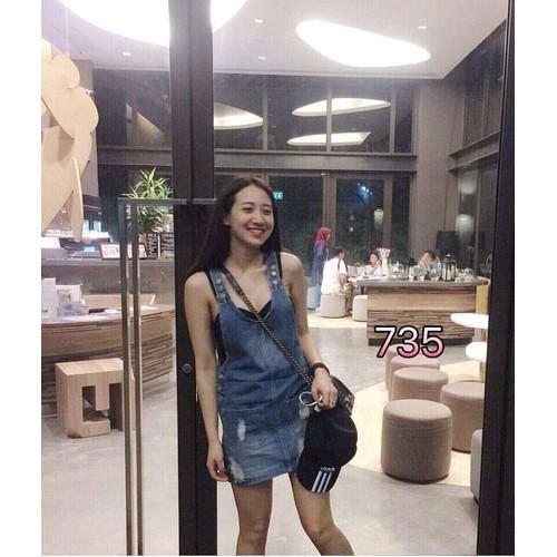Chân váy yếm jean nữ phong cách hiện đại - 11455312 , 17253055 , 15_17253055 , 125000 , Chan-vay-yem-jean-nu-phong-cach-hien-dai-15_17253055 , sendo.vn , Chân váy yếm jean nữ phong cách hiện đại