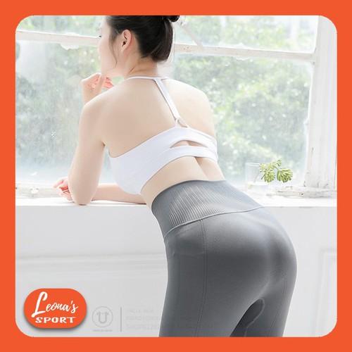 Quần Legging Dài Thể Thao Nữ Quần Tập Gym Yoga Gân Trơn Nâng Mông Gen Bụng