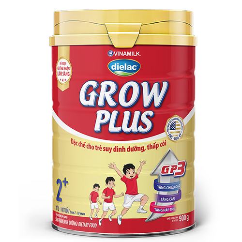 Sữa công thức Dielac Grow Plus 2+ Hộp 900G