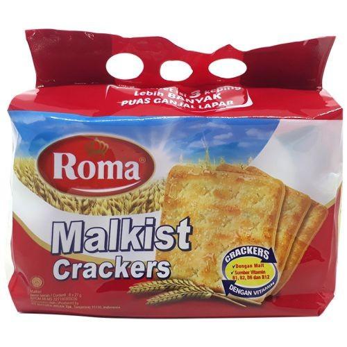 Bánh quy Roma Malkist crackers gói 216g