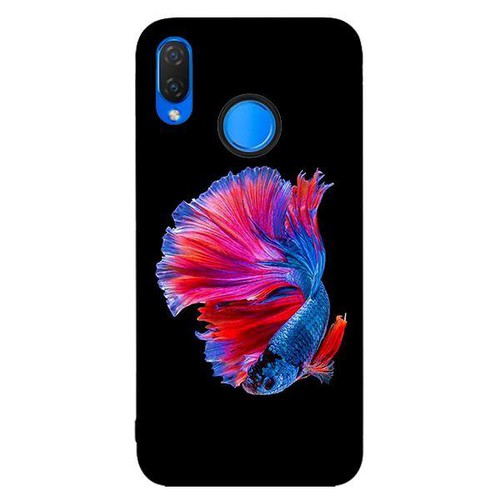 Ốp lưng dành cho điện thoại Huawei Nova 3i - Nova 3E - P20 LITE - NOVA 4 - Y9 2019 - Cá Betta Xanh Hồng - hàng chất lượng cao