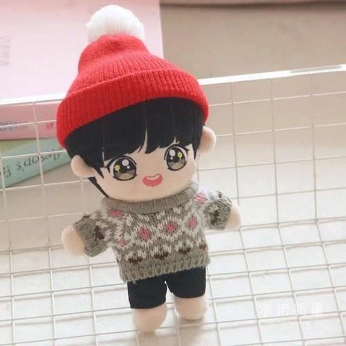 Doll Jungkook đồ len tóc đen doll BTS