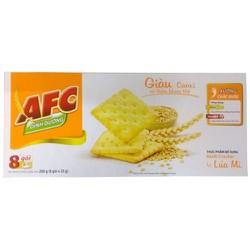 Bánh quy giòn vị lúa mì AFC hộp 8 gói x 25g