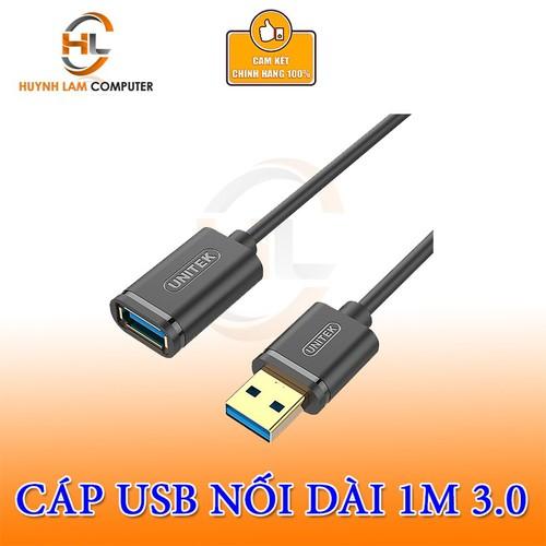 Cáp USB Nối Dài 3.0 UNITEK Dài 1m  Y - C457 GBK Chính Hãng Unitek