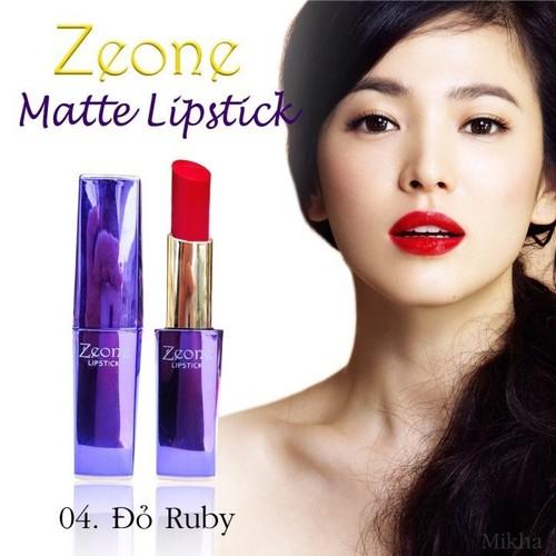 Son lì Zeone Hàn Quốc màu đỏ Ruby – 100 thiên nhiên, không chì, không asen, không thủy ngân