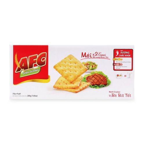 Bánh quy giòn vị bò bít tết AFC hộp 200g