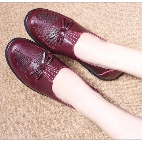 Giày da nơ hot