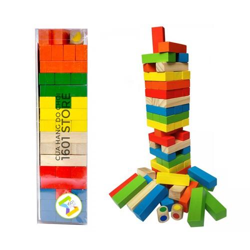 Đồ chơi Domino Tower - Rút gỗ & xây tháp