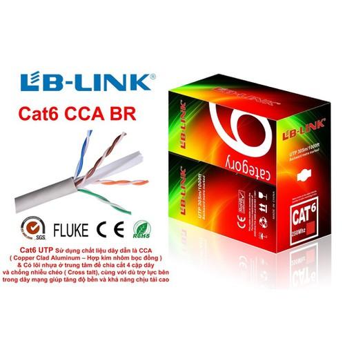 305m dây mạng cat 6 lb-link bấm sẵn hai đầu giá rẻ