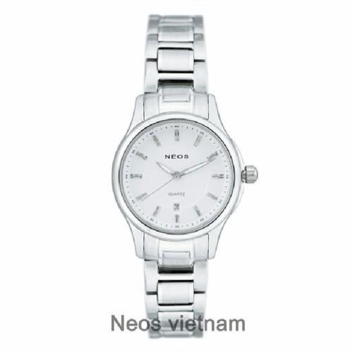 Đồng Hồ Nữ Neos N-30864L Sapphire Dây Thép Chính Hãng