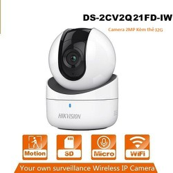 Camera IP Wifi HIKVISION 2MP 1080P DS-2CV2Q21FD-IW + thẻ nhớ 64GB - DS-2CV2Q21FD-IW + 64gb