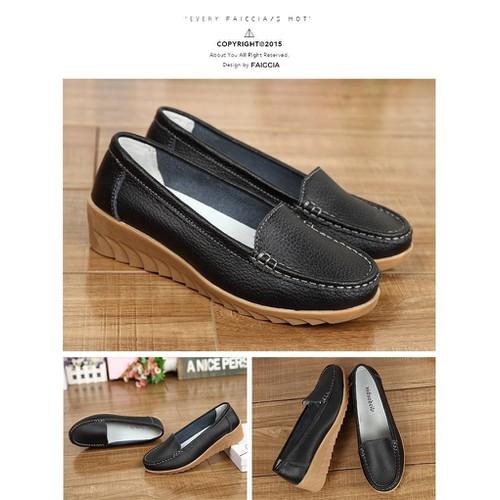 Giày da nữ đi êm chân