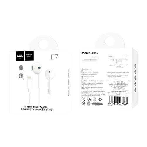 Tai Nghe Bluetooth Dây Lighning Hoco L7 Cho Iphone Chính Hãng