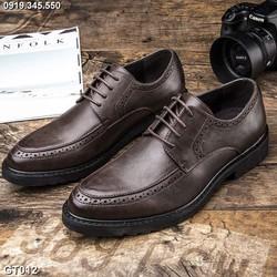 Giày da công sở, giày tây nam big size số 44 45 46 47 48 cho chân to lớn ngoại cỡ