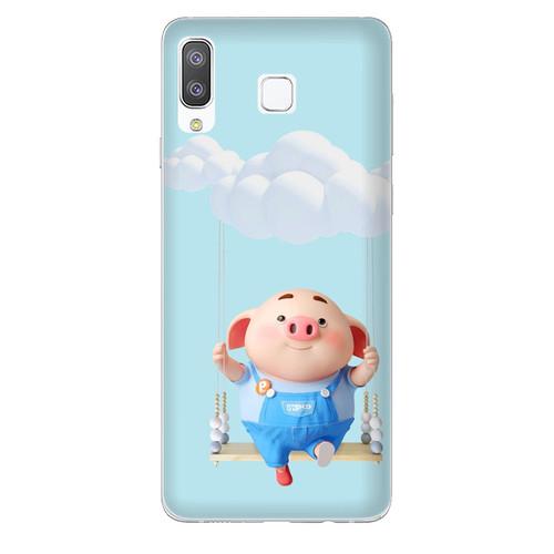 Ốp lưng dành cho điện thoại Samsung Galaxy A7 2018 - A750 - A8 STAR - A9 STAR - A50 - Heo Con Đu Quay - hàng đẹp