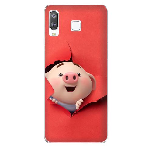 Ốp lưng dành cho điện thoại Samsung Galaxy A7 2018 - A750 - A8 STAR - A9 STAR - A50 - Heo Con Phá Phách - hàng chất lượng cao