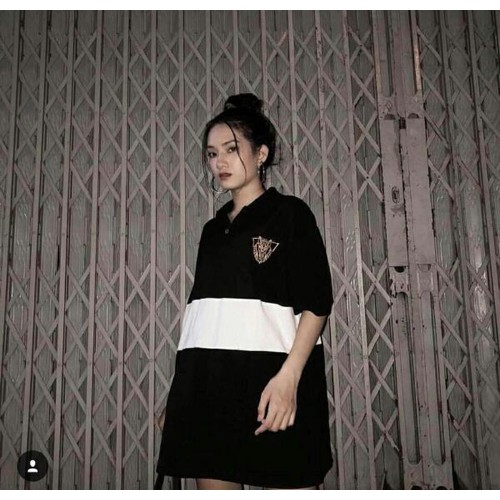 Áo cotton thun nữ cổ bẻ