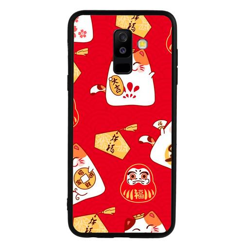 Ốp lưng dành cho điện thoại Samsung Galaxy A8 2018 - A5 2018 - J2 Core - A6 Plus - Mèo May Mắn 05 - hàng đẹp