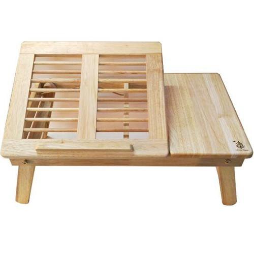 Bàn laptop gỗ cao su tự nhiên