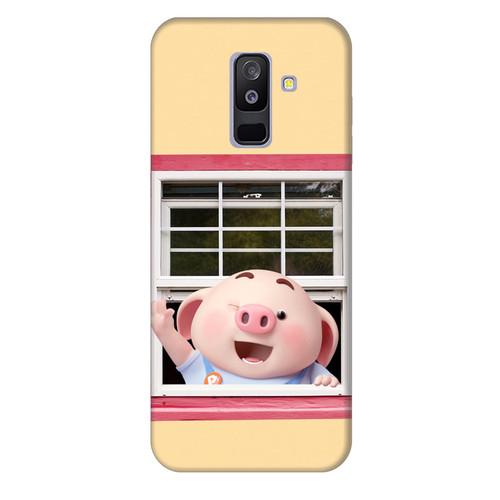 Ốp lưng dành cho điện thoại Samsung Galaxy A8 2018 - A5 2018 - J2 Core - A6 Plus - Heo Con Chào Ngày Mới - giá tốt