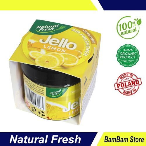 Sáp thơm khử mùi cho xe hơi Natural Fresh hương chanh tươi JL100L – Hàng chính hãng