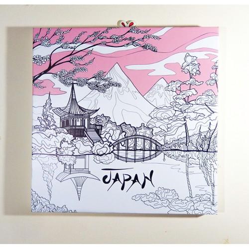 Tranh phong cảnh Nhật Bản - 11468404 , 17286763 , 15_17286763 , 109000 , Tranh-phong-canh-Nhat-Ban-15_17286763 , sendo.vn , Tranh phong cảnh Nhật Bản